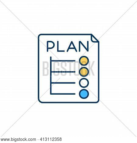 Proactive Behaviour Rgb Color Icon. Goals Achievement. Proposed Tasks Planning, Execution. Seeking N