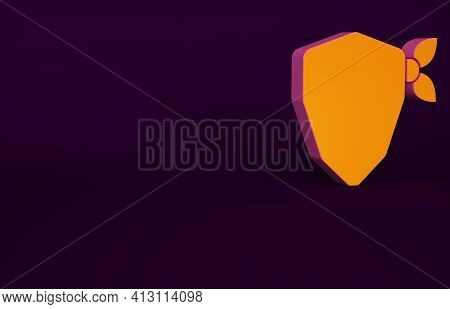 Orange Vandal Icon Isolated On Purple Background. Minimalism Concept. 3d Illustration 3d Render