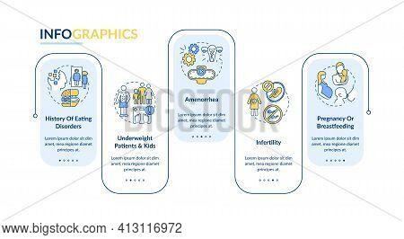 Intermittent Fasting Precautions Vector Infographic Template. Healthcare Presentation Design Element