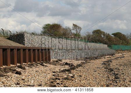 Coastal erosion defences