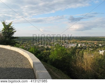 View From Chigirin Castle To The Village Below.
