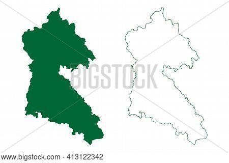 Mungeli District (chhattisgarh State, Bilaspur Division, Republic Of India) Map Vector Illustration,