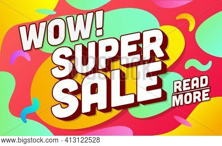 Shopping Banner Template. Sale And Discounts. Vector Illustration. Promotion Template Design For Pri