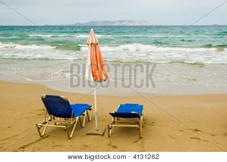 Umbrella And Chairs