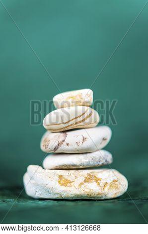 Pyramid Zen Stones, Meditation, Buddhism And Harmony Symbol