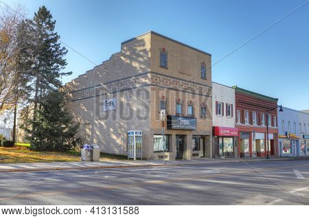 Ingersoll, Ontario, Canada - November 4: The Ingersoll Theatre-performing Arts On [november 4, 2020]