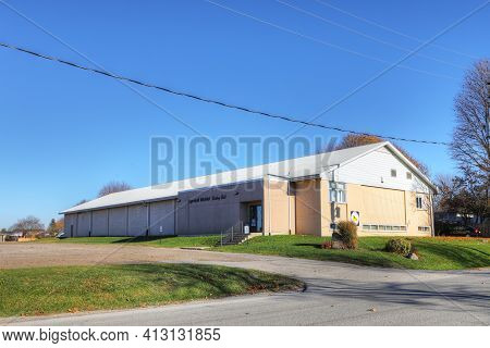 Ingersoll, Ontario, Canada - November 4: The Ingersoll Curling Club On [november 4, 2020] In [ingers