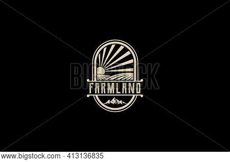 Farmland Logo On White Background, Farmland Logo