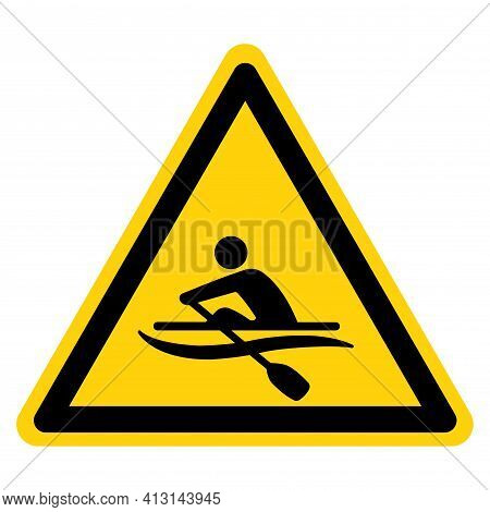 Rowing Symbol Sign,vector Illustration, Isolate On White Background Label. Eps10