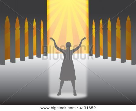 Woman In A Church
