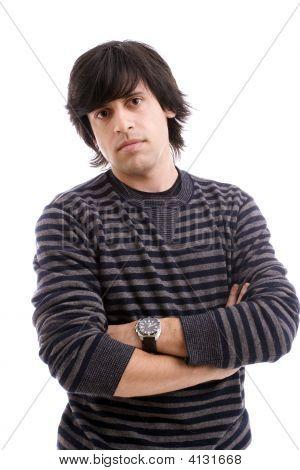 Young Casual Man Posing