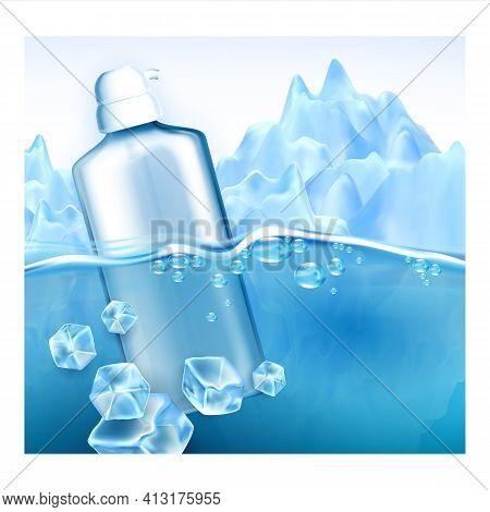 Facial Cleanser Micellar Water Promo Banner Vector
