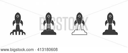 Rockets Icons. Rocket Launch. Spaceship Launch. Spaceship And Rocket Icons. Satellite Business Conce