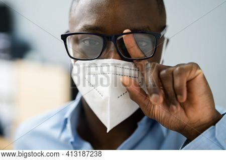 Foggy Sunglasses While Wearing Coronavirus Face Mask