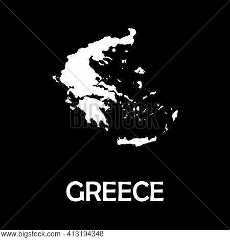 High Detailed Vector Map - Greece. Europe Mainland.