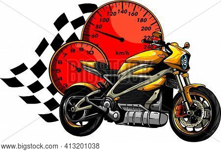 A Motorcycle Racer Sport Vector Illustration Design