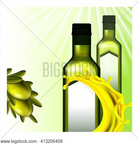 Olive Oil Extra Virgin Promotional Poster Vector