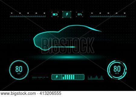 Automotive interface AR hologram windshield panel
