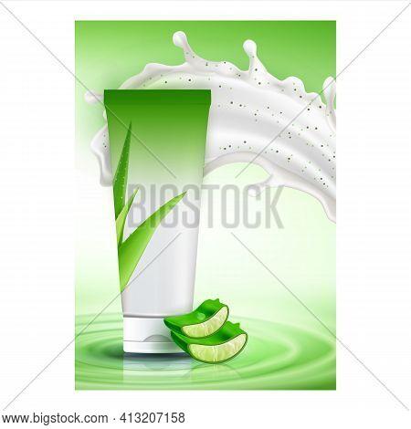 Scrub Aloe Vera Creative Promotional Banner Vector