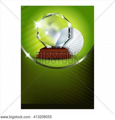 Golf Trophy For Best Score Golfer Poster Vector