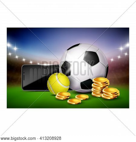 Sports Betting Creative Promotional Poster Vector Illustration