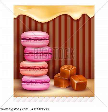 Candy Shop Delicious Dessert Promo Poster Vector