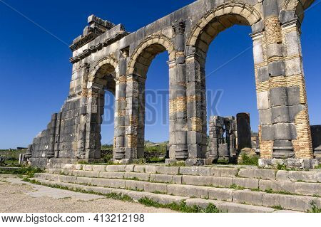 Unesco Heritage. Extensive Complex Of Ruins Of The Roman City Volubilis - Of Ancient Capital City Of