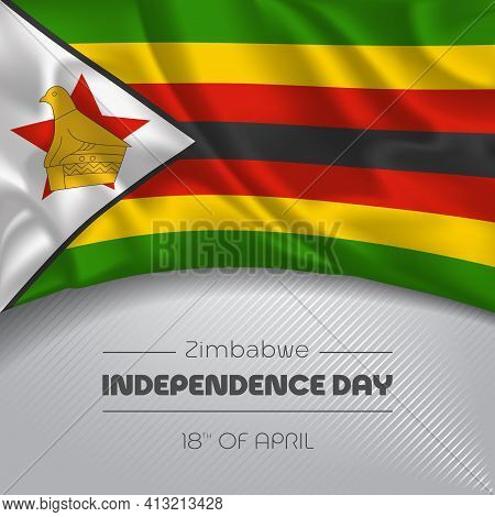 Zimbabwe Happy Independence Day Greeting Card, Banner Vector Illustration