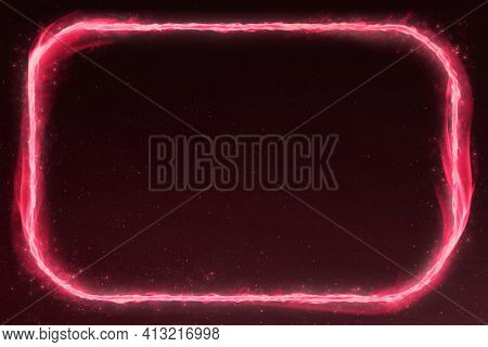 3D pink rounded rectangle fire frame