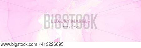 Rose Elegant Background. Liquid Marble Effect. Abstract Modern Stain. Fluid Wallpaper. Chic Elegant