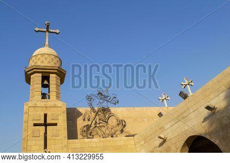 Cairo - Egypt - October 03, 2020: Old Beautiful Orthodox Church In Cairo. Christian Coptic Church Do