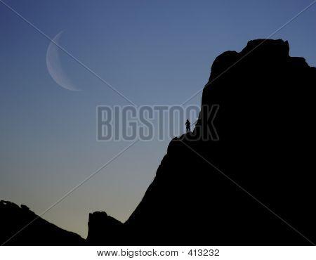 Menschen Rock climber