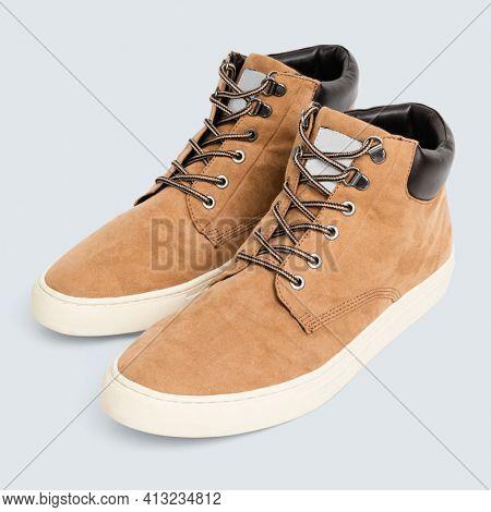 Brown desert boots unisex footwear fashion