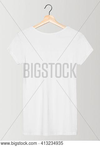 Basic white tee women's apparel rear view