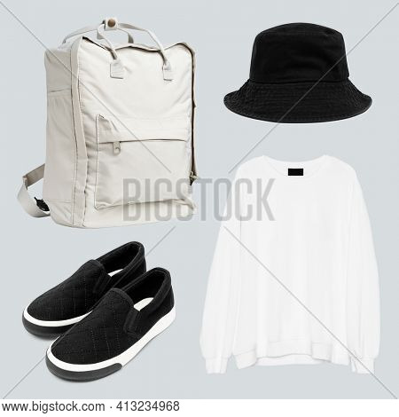 Simple unisex's streetwear fashion set