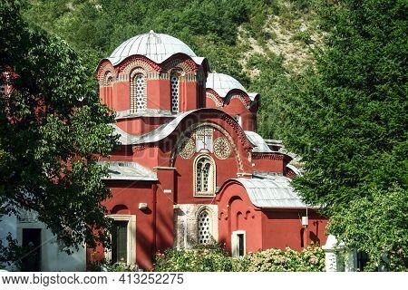 Main Church And Chapel Of The Manastir Pecka Patrijarsija Monastery In Decan, Kosovo. It Is One Of T