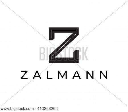 Minimal Style Letter Z Vector Logo Design.