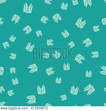 Green Suit Icon Isolated Seamless Pattern On Green Background. Tuxedo. Wedding Suits With Necktie. V