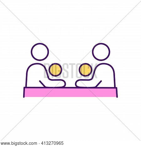 Parent Support Group Rgb Color Icon. Coping With Mental Health Problems. Parenting Classes. Mutual S