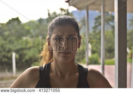 Middle Shot Of A Woman In Sportwear