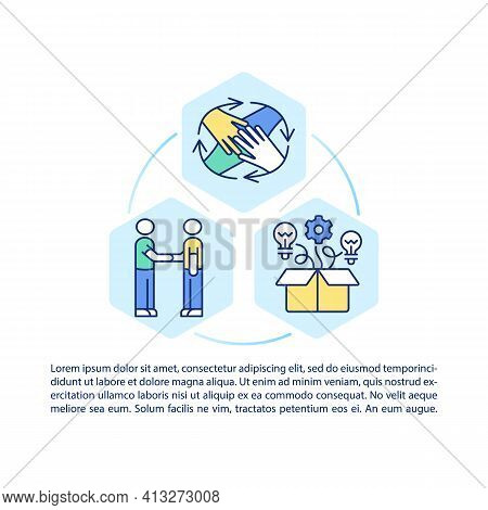 Strategies Of Employees Motivation Concept Icon With Text. Teambuilding And Teamwork. Ppt Page Vecto