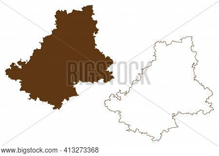 Schwabisch Hall District (federal Republic Of Germany, Rural District, Baden-wurttemberg State) Map