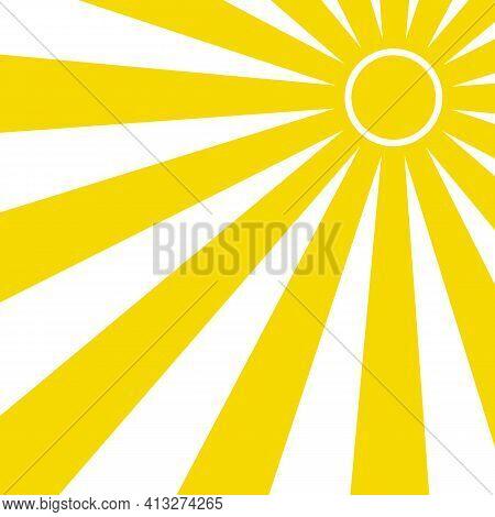 Abstract Yellow Sun Rays. Summer Vector Sunray Illustration