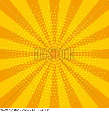 Abstract Yellow Sun Rays. Summer Vector Sunray Illustration For Design