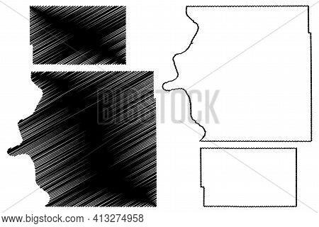 Brule And Bennett County, State Of South Dakota (u.s. County, United States Of America, Usa, U.s., U
