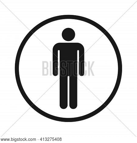 Man And Woman Avatar Icon. Male And Female Gender Profile Symbol. Men And Women Wc Logo. Toilet And