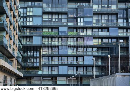 Modern Glass Residential Building Of Apartment Complex Ofone Beacon, Beacon Court, Sandyford, Dublin