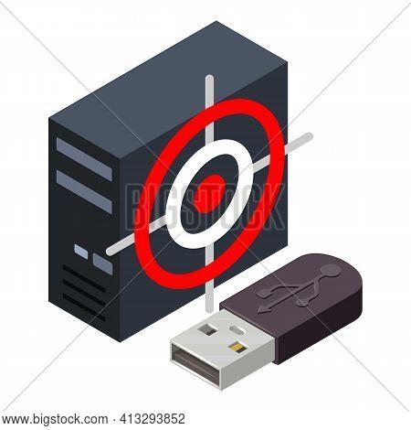 Information Leakage Icon. Isometric Illustration Of Information Leakage Vector Icon For Web
