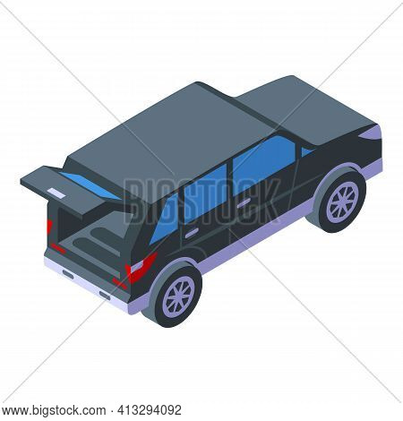 Empty Trunk Car Icon. Isometric Of Empty Trunk Car Vector Icon For Web Design Isolated On White Back