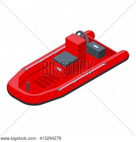 Accident Rescue Boat Icon. Isometric Of Accident Rescue Boat Vector Icon For Web Design Isolated On
